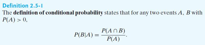2.4 Conditional Probability : 조건부확률 2.4.1 The multiplication rule and tree diagrams : 두사건에대한곱셈규칙 : 세사건에대한곱셈규칙 2.