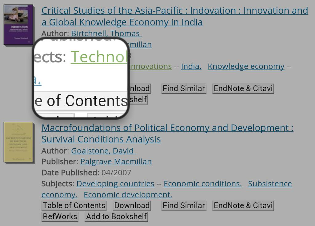 Table Of Contents, Download, Find Similar,