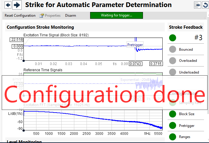 Strike for Automatic Parameter Determination Parameter determination 항목으로 Bounced / Overloaded /