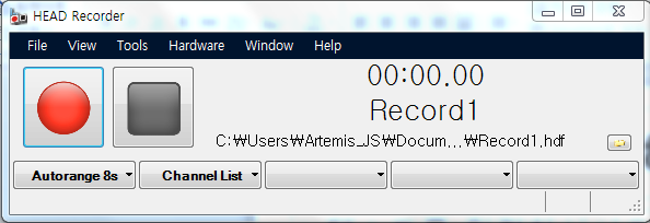 Main Window REC STOP File name