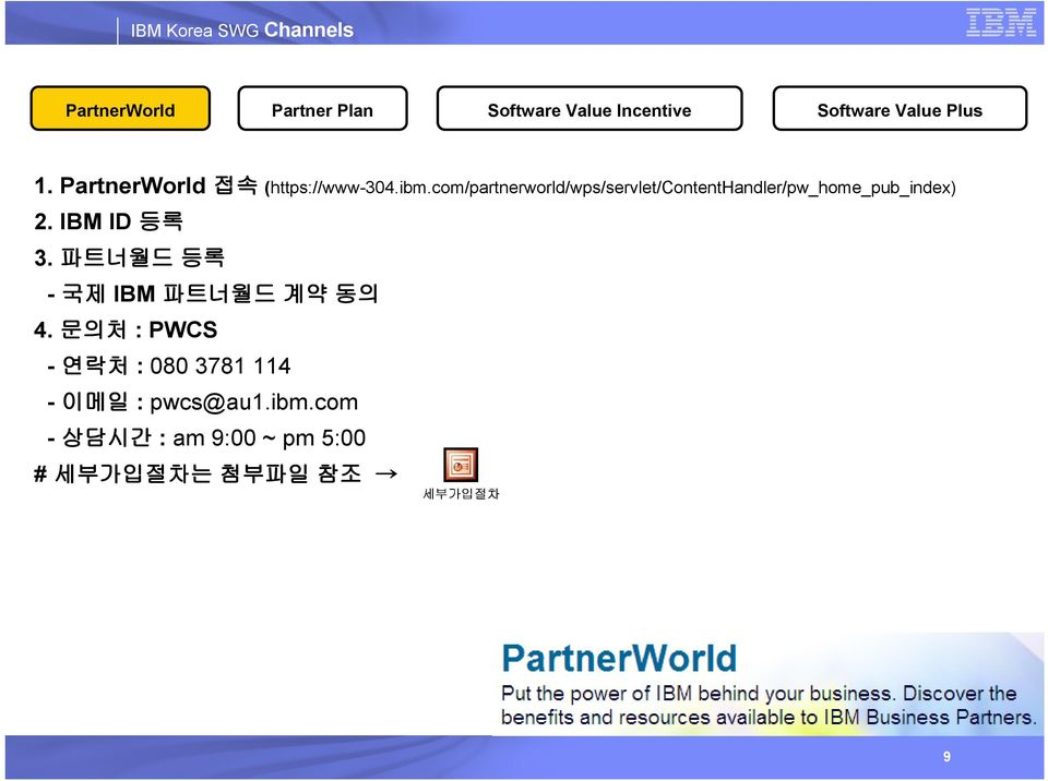 com/partnerworld/wps/servlet/contenthandler/pw_home_pub_index) 2. IBM ID 등록 3.