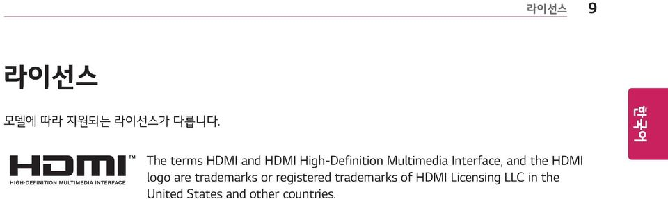 Interface, and the HDMI logo are trademarks or
