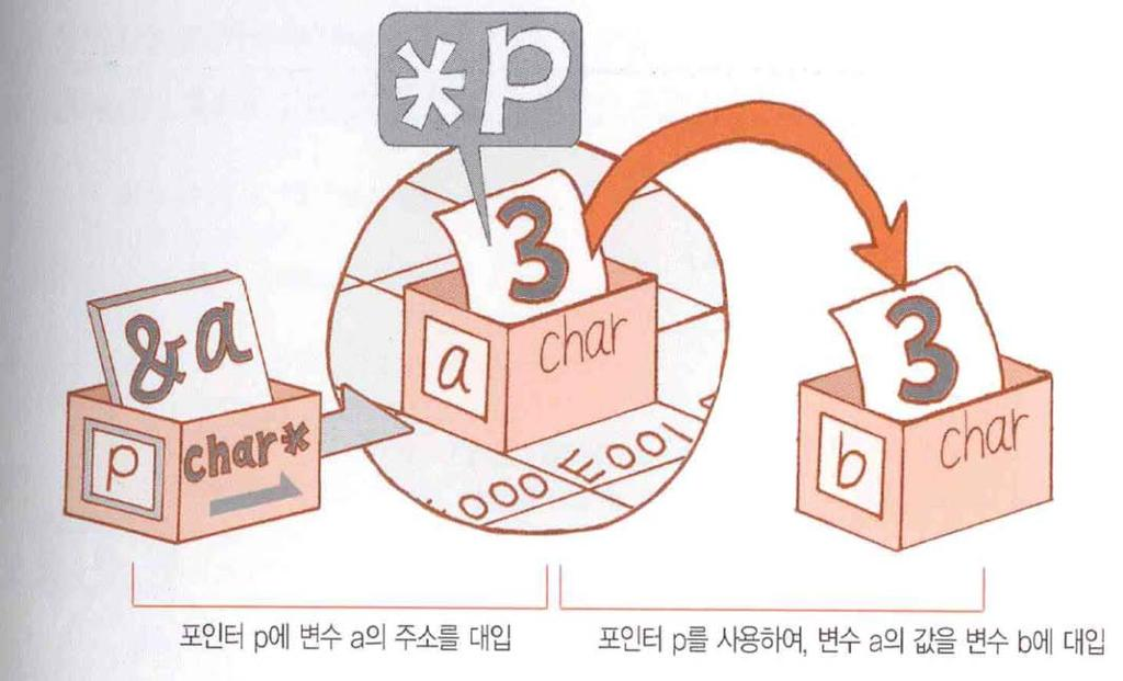 Pointers: a first look the indirection operator( 간접연산자 ) p = &a; b = *p; p
