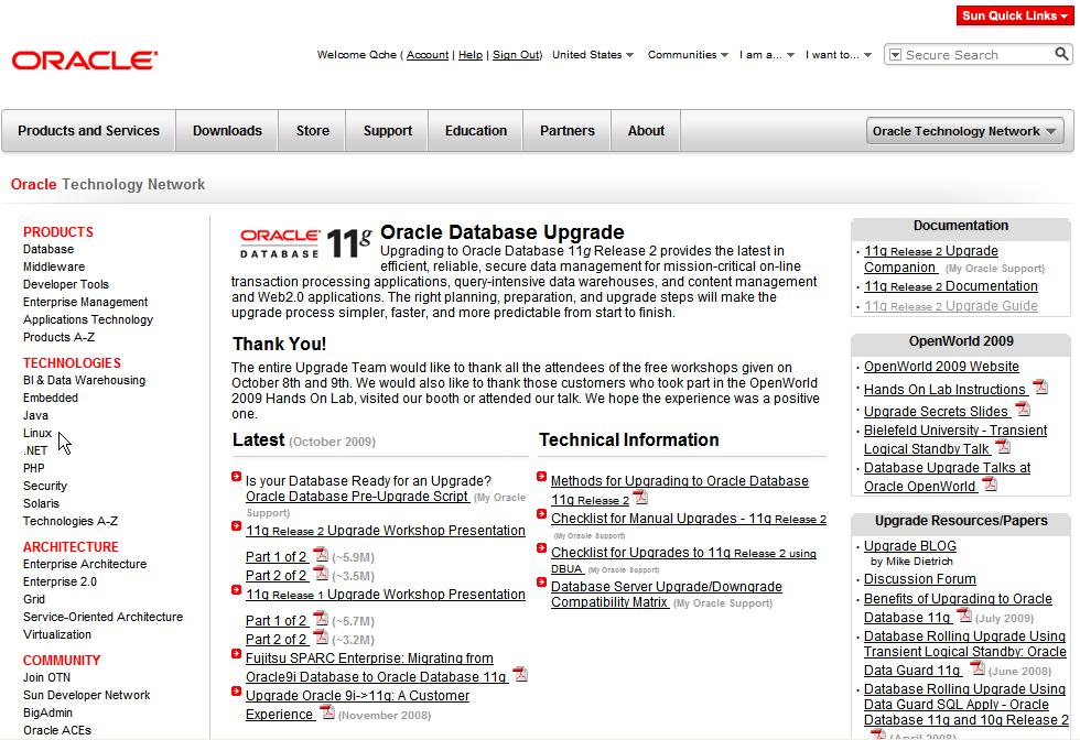 OTN Upgrade Page http://www.oracle.