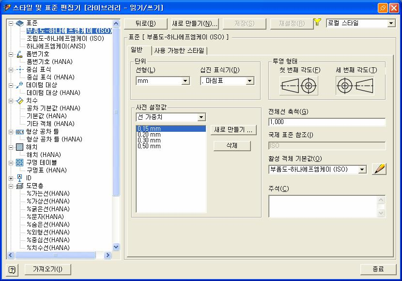 Standardization for User Interface Inventor Drawing 환경표준화 Drawing