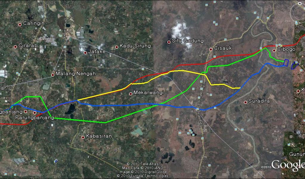 Master Planning and Feasibility Study of Karian Dam ~ Serpong Water Conveyance & Supply System PARUNGPANJANG-SERPONG WATER CONVEYANCE SYSTEM Residential Areas Residential Areas
