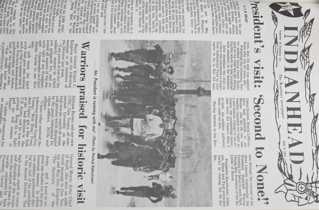 44 THE INDIANHEAD LEGACY PAGE JULY 17, 1968 Soldiers from the 98th RCT repelled 4 North Korean agents as they tried to