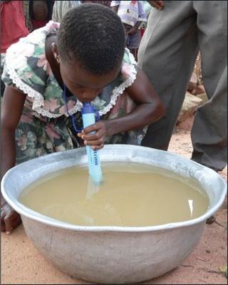 mainly children, die each day by consuming unsafe drinking water.