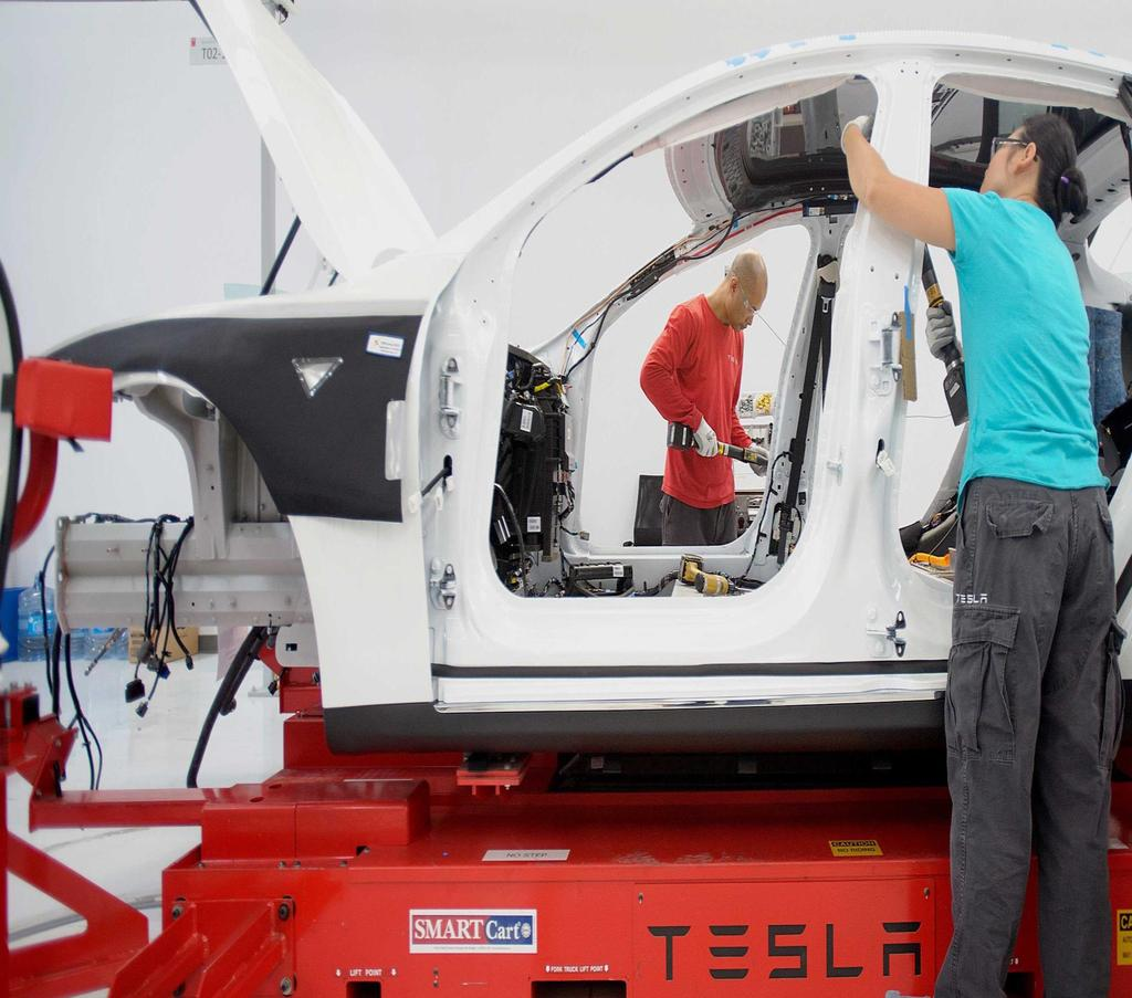 Tesla drives the auto industry into the future.