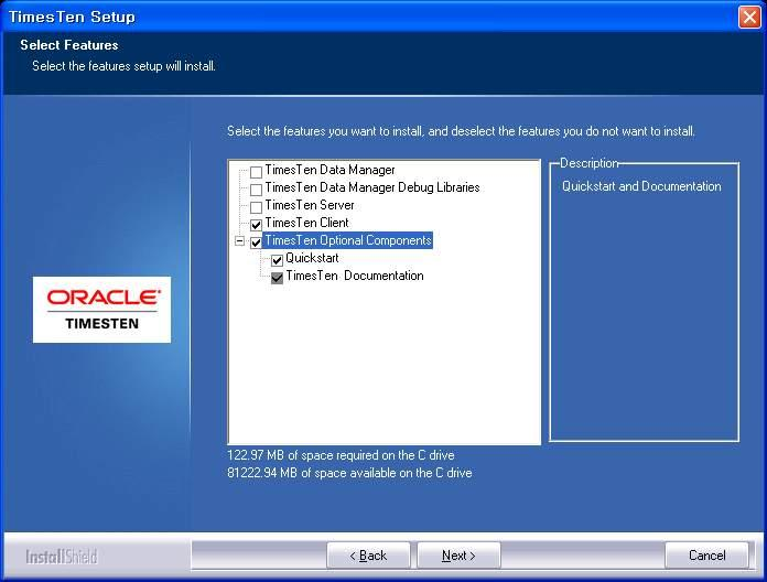 3.14 Oracle TimesTen In-Memory Database Client 설치과정 (4) 3.14.1 Oracle TimesTen 기능설치확인 3.