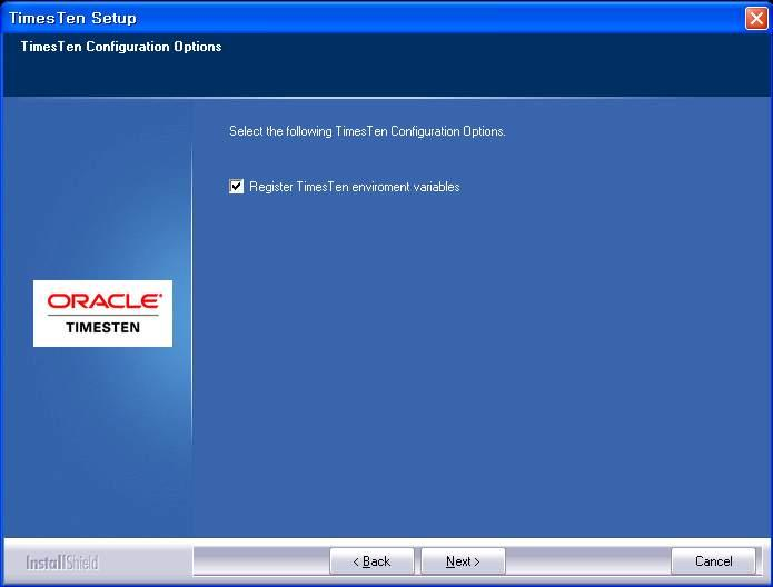 3.17 Oracle TimesTen In-Memory Database Client 설치과정