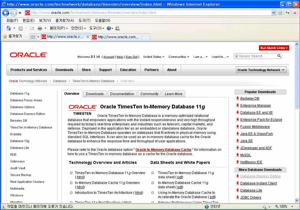 3.3 Oracle TimesTen In-Memory Database 11g Information Site